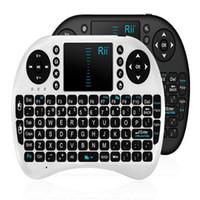 almofadas google venda por atacado-Mini teclado portátil Rii Mini i8 Teclado Sem Fio com Engilsh Touchpad para PC Pad Google Caixa de TV Andriod Epacket Livre