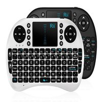 Wholesale Tablets Portable Keyboards - Portable mini keyboard Rii Mini i8 Wireless Keyboard with Engilsh Touchpad for PC Pad Google Andriod TV Box Free Epacket
