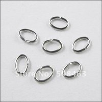 Wholesale Oval Jump Rings Wholesale - Ship Free ! 2000pcs lot 5x7mm dull silver tone oval open jump rings