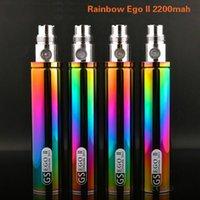 Wholesale E Cigarette Battery Rainbow Color - 100% Original Greensound GS EGO 2 II Rainbow Color 2200mAh Battery E-Cigarette For EGO II Batteries Mods High quality in Stock free shipping