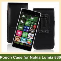 dikey kese klipsi toptan satış-Toptan Lüks Kemer Klip PU Deri Dikey Kapak Kılıfı Kılıf Nokia Lumia 830 Ücretsiz Kargo