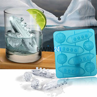 Wholesale Cupcakes Icing - Trays Mold Titanic Shaped Ice Cube Creative Silicone For Party Mold Cooking Tools Cupcake tool Hot
