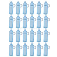 Al por mayor-Mini botella de alimentación Bautizo Baby Shower Favors Party Decor 24pcs envío gratuito