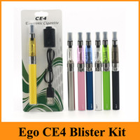 Wholesale Ego Ce4 Blister Free Shipping - Ego Starter CE4 Blister Kit Electronic Cigarette Starter Kits With CE4 Atomizer And 650 900 1100 mAh Ego Battery Various Color Free Shipping