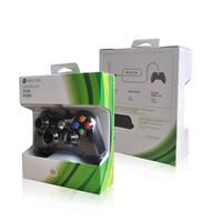 xbox pad'leri toptan satış-Microsoft Xbox 360 için USB Kablolu Oyun Denetleyicisi Gamepad Altın Kamuflaj Joystick Oyun Pedi Çift Şok Denetleyicisi 2017 Yeni 1 ADET
