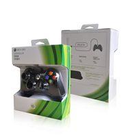 usb joystick controller para pc al por mayor-Para Microsoft Xbox 360 Controlador de juegos con cable USB Gamepad Golden Camouflage Joystick Game Pad Controlador de doble choque 2017 Nuevo 1 PCS