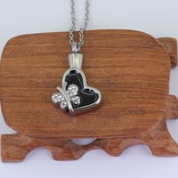 Wholesale butterflies jewellery - Stainless Steel Cremation Ashes Jewellery crystal butterfly pendants&Necklace P720