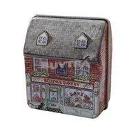 Wholesale Vintage House Tin Boxes - 2014 New HE Practical Fashion Mini dream Vintage House Tinplate Storage Tin Box Coin Bag Jewelry Box EH