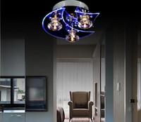 sala de jantar luz led venda por atacado-Moda moderna levou luz de teto de cristal lâmpada 110 V 220 V para o quarto sala de jantar sala de estar varanda corredorLâmpada de teto de cristal Lustre