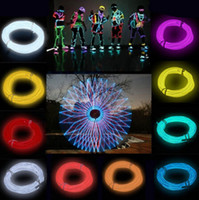 Wholesale Led Color Strip Rope Light - Free SHIPPING 2pcs lot LED Strips seven color 1M neon el wire light Flexible Neon Light Glow EL Wire Rope Car Party water resistant FG