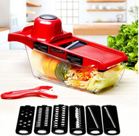 Wholesale potato cutter blades resale online - Mandoline Vegetable Slicer Cutter interchangeable blades Stainless Steel Blade Manual Potato Peeler Carrot Grater Dicer Storage Container