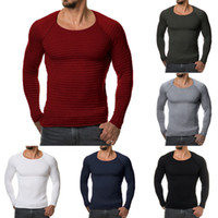 Wholesale Long Christmas Jumpers - Winter Christmas Sweater Men Kintting Sweater Jumper Slim Fit O-Neck Pullover Clothing Season Men's Sweatershirts