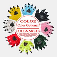 Wholesale Wholesale Paw Pajamas - Wholesale-Shineye Animal Paw winter Warm Gloves Lovely A Variety Of Colors Soft Soles Christmas Gifts Cartoon For Animal Pajamas Fingers