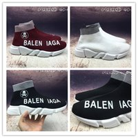 2017 LIMITED EDITION Material Itália Balen Speed ​​Running Shoes For MenWomen Preto Branco VOGUE AJCYYH Stretch-knit Mid Summer Sneake 36-45