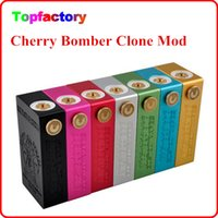 Wholesale Brass Contact - Cherry Bomber Box Mod Clone Dual 18650 Battery Brass Contact 510 Thread Stainless Steel Vapor Mod Fit RDA RBA Atomizer Via DHL