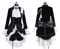 Wholesale Ciel Phantomhive Blue Cosplay - Black Butler Cosplay Ciel Phantomhive Dark Blue Costume -Custom made in Any size