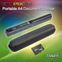 Vente en gros- Livraison gratuite! Étui de transport dur + Skypix TSN415 Portable A4 Document Photo Scanner8GB TF carte