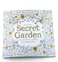 Wholesale Forest Hand Painted - New Secret garden adult English decompression hand-painted color in coloring book Enchanted forest children painting books 1677