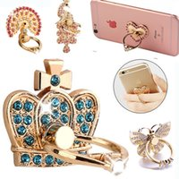 Wholesale Universal Cellphone Holder - Ring Phone Holder Bling Diamond Unique Mix Style Cell Phone Holder Fashion For iPhone X 8 7 6s Samsung S8 cellphone stand iPad