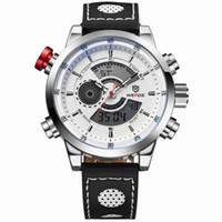 homens vêem luzes led venda por atacado-WEIDE Moda Casual Sports Watch Quartz Digital LED Back Light Militar relogio masculino 30m Homens À Prova D 'Água Relógios