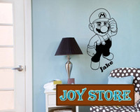 Wholesale super mario decal stickers resale online - Super Mario Wall Decal Art Sticker Children Nursery Personalized With A Name Of Your Choice Large CM