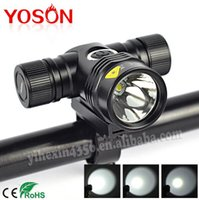 Wholesale T6 Led Light Bulb - Brand New Black T6 LED Light Bulbs 5-mode Max 2000LM 18650 Waterproof Cycling Outdoor Bicycle Light Lights Lamp W  Bike Bracket Clip