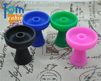 Wholesale Hole Maker - 1 X One-Hole Colorful Flower Silicon Shisha Hookah Bowl Silicon Head Holder For Accessories Phunnel Bowl New Lotus Head Makers
