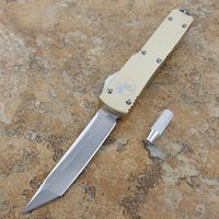 Wholesale Switch Knives - Ultratech 121 Microtech ' s automatic knife switch blade micro-cutting tool D2 steel Air Road High quality portable tactical outdoor kni