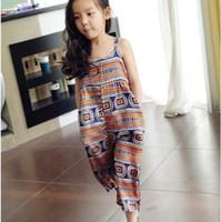 Wholesale Korean Orange Dress - Braces Suspenders Korean Girl Dress Kids Pants Children Clothes Kids Clothing 2015 Summer Girls Suspenders Children Suspender Thouser C5940