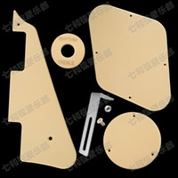 Wholesale Cream Pickup Covers - Set LP Electric Guitar Pickguard,Cavity Cover,Switch Cover,Pickup Selector Plate,Scratchplate Pickguard Support Bracket   Cream
