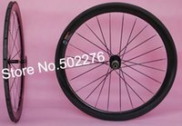Gros-50mm Tubular Wheel set - Bike Route 3K Full Carbon vélos 700C set de roue jantes (trous 20,24) RIM + Rayon + hub + QR brochettes
