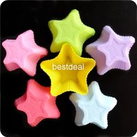 Wholesale Jelly Cake Star Mold - 6 colors star cake mold silicone cake mold pudding jelly mold color pentagram soap mold ice trays ice cube mold 2015 new wholesale