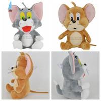 Wholesale Tom Jerry Dolls - Cartoon Plush toys Tom and Jerry plush dolls toys Tom and Jerry Soft Plush Dolls toys baby stuffed toys Kids Xmas Gift EMS Free 10pcs