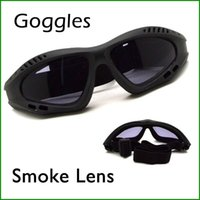 Wholesale Windproof Safety Glasses - Outdoor Motorcycle Goggles Windproof Glasses Safety Sport Glass Smoke Lens