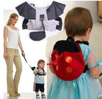 Wholesale Safety Harness Backpacks - Baby child Toddler Safety Harness Reins Backpack Walker Buddy Strap Walker sling school bag anti-lost band backpacks small bags
