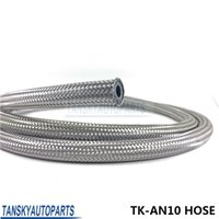 Wholesale Braided Fuel Hose - TANSKY - new hose AN-10 Stainless Steel Braided Fuel Coolant Oil Cooler Line Hose 1m TK-AN10 HOSE
