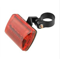 Wholesale 5 LED Rear Cycling Bike Bicycle MTB Tail Taillight Flash Light Flashlight Warning Red Outdoor Useful New