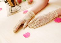 Wholesale Bridal Lingerie Red - 2015 Short Lace Full Fingers Wedding Gloves 8 in Fomal Ladies Lingerie Evening Costume Gloves fingered white