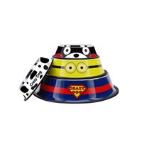 Viagem Pet Cat Bowls de aço inoxidável para cães, Kumamon Bear Pattern Dog Bowls Outdoor Drinking Water Fountain Pet Dog Fornecedor de alimentos para pratos