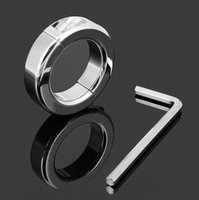 Wholesale bdsm ball stretch for sale - Group buy g Ball Stretching Scrotum Restraint Stainless Steel Male Penis Cock Rings Locking Ball Stretcher Adult Sex Delay BDSM