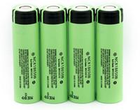 Wholesale 36v Lithium Battery - Original 100% Panasonic NCR18650B Battery 3.7V 18650 Lithium Battery Li-on Cell 3400mAh Flat Top UPS Freeshipping