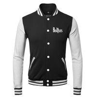 herren jacken rock groihandel-Mode Warme Winter Cool Mens Mäntel Hip Hop Die Beatles Rock Band Sweatshirts Baseball Bomberjacke Männer 3XL