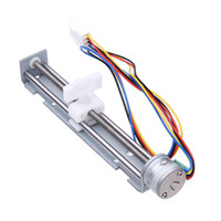 Wholesale 9v Motors - Universal High Speed DC 4-9V Drive Stepper Motor Screw With Nut Slider 2 Phase 4 Wire Lead MAC_02N