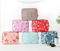 Wholesale Travel Fold Up Bags - fashion 2017 Makeup Organizer Waterproof Makeup Bag Travel Organizer Cosmetic Box for Women Large Necessaries Make Up Case Wash Toiletry Bag
