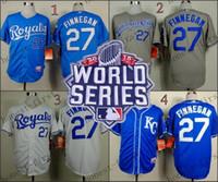 Wholesale Wholesale Order World - 2015 World Series Kansas City Royals 27 Brandon Finnegan Home Road Wholesales Cheap American baseball jerseys Embroidery Logo Mix Order