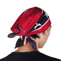 Wholesale Wholesale Rags - Confederate Rebel Flag bandannas do-rags headwraps Civil War Flag 55*55cm Bandana Headband For Adult Bandanas National Polyester Cotton