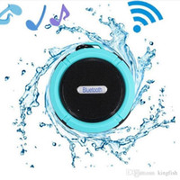 Wholesale Portable Shower Floor - C6 IPX7 Outdoor Sports Shower Portable Waterproof Wireless Bluetooth Speaker Suction Cup Handsfree MIC Voice Box For iphone 6 iPad galaxy