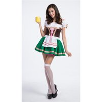 taille du café achat en gros de-Oktoberfest Sweetie Inga Costume Femme Pour Bar À Bière Halloween Serveuse De Maison Serveuse Costumes Bonne Chance De La Taille Irlandaise Gal M-XL