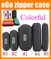 Wholesale Electronic Cigarette Ego Box - eGo leather case electronic cigarette carry case zipper pouch e cig ego carrying case e cig box for atomizer evod battery ego ce4 kit FJ003