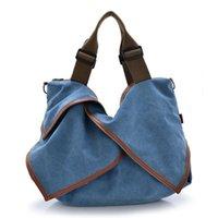 Wholesale Market Phones - Vintage Casual Canvas Women Shoulder Bag Girl's handle Hobo Bag Market Messenger Bookbag Modern Satchel Bags